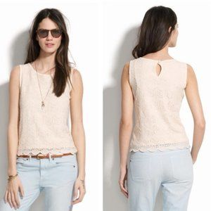 Madewell Cream Lace Tank Size XL